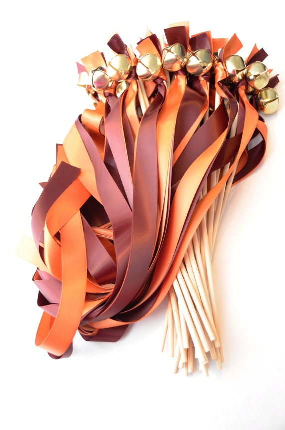 100 Ribbon Bell Wands New Size Style Wider Ribbon Choose