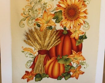 Welcome Harvest Door or Wall Panel by Color Principle for Henry Glass Quilt Fabric Co. Sold by the Panel