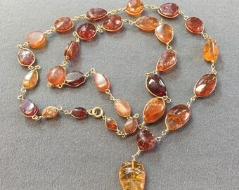 Older Vintage Amber Necklace-Real Amber.  Free shipping