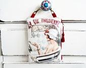 Ladies gift idea, Waterproof French Hanging Bag for Phone/Tampons/Accessories