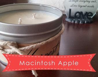 Macintosh Apple - Soy Candle - 16oz Tin