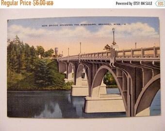 51% OFF Brainerd Mn Minnesota Bridge on Mississippi River Vintage Postcard