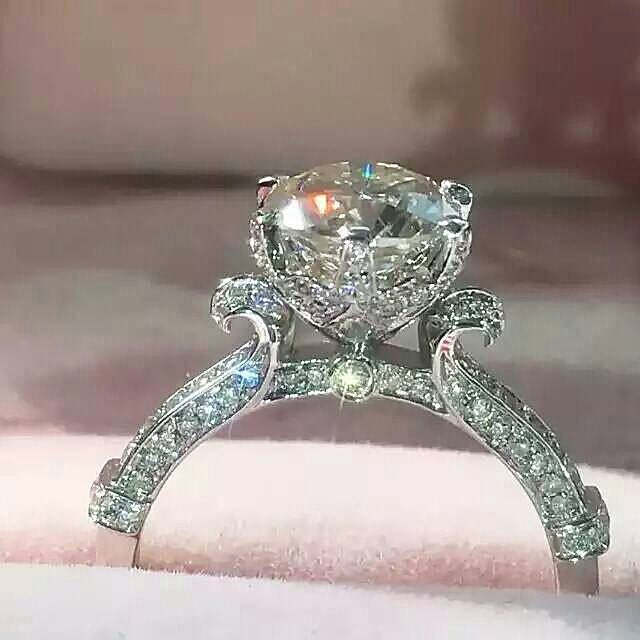 Man Made Diamond Engagement & Promise Rings Under by FairyParadise