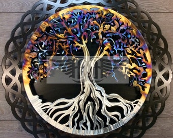 11th Anniversary Heated Stainless Steel Tree Of Life
