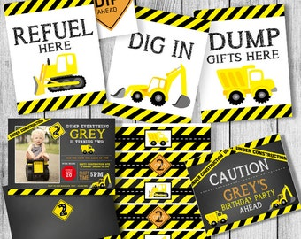 Dump Truck Birthday PARTY PACK