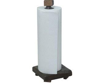 Barnwood Paper Towel Holder for Counter Top