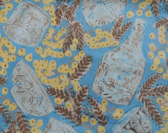 MISAKI by Melissa White ~ Fabric ~ Delft and Mimosa in JAIPUR Blue ~ Rowan Westminster Fabrics ~ Pottery ~ Quilting ~ Sewing ~ Home Decor