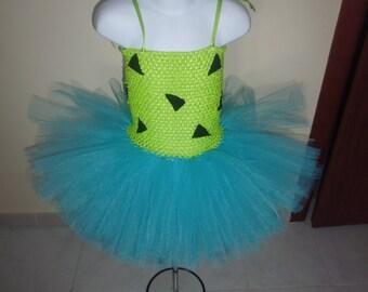 Pebbles Flinstone inspired tutu dress