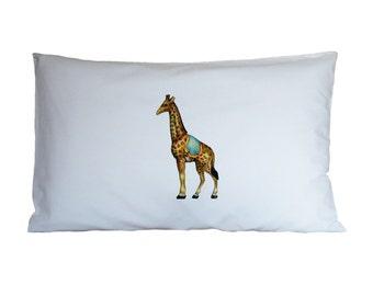 Circus giraffe pillow case, cushion, bedding, pillow cover