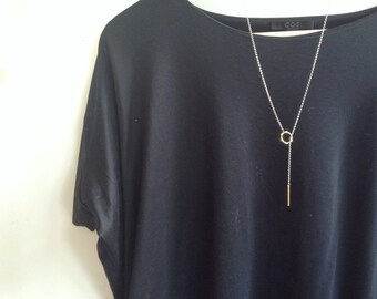 Lariat Necklace / Y Necklace - Brass, Silver, Gold filled