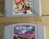 Nintendo 64 Mario Party NFL Blitz Football Nintendo 64 N64 Fun Family Video Game Lot Bundle
