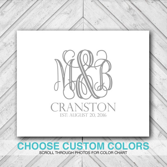 monogram wedding guestbook alternative wedding guest book ideas ...
