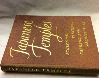 Japanese Temples large coffee table book 1964 Stunning!!