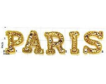 """Choice of Size, Paris Applique, Sequin Beaded, 1.75"""" - 1800, 1.25""""-1781"""