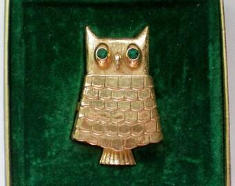 Avon Owl Perfume Pin with Original Box - 4513