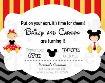 Mickey and Minnie Invitation