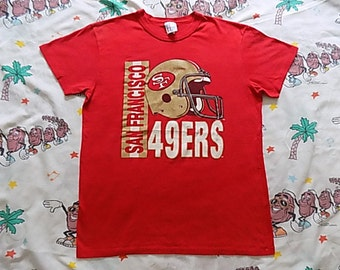 Vintage 80's San Francisco 49ers T shirt, size Medium suuuper soft and thin