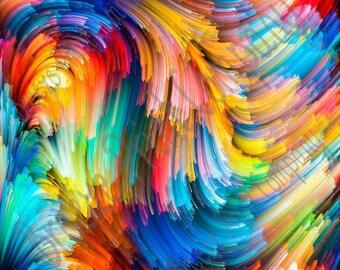 Swirl abstract pattern printed craft  vinyl sheet - HTV or Adhesive Vinyl -  paint effect  HTVWC13