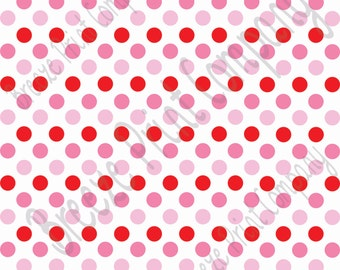 Red, pink and and light pink dot pattern craft  vinyl sheet - HTV or Adhesive Vinyl -  medium polka dots Valentine's day colors HTV1632