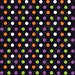 Black with purple, orange, green and white polka dot Halloween pattern HEAT TRANSFER vinyl sheet medium polka dots HTV1651