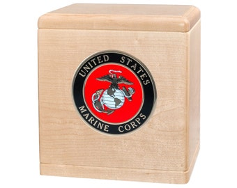 Maple Freedom Military Wood Cremation Urn