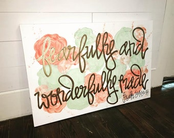 Floral Watercolor Canvas