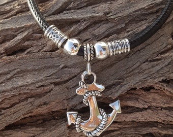 nautical necklace, anchor