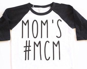 Mom's #MCM Raglan Baby Shirt, Baby Boy Shirt, Boy shirt, baby boy clothes, Man Crush Monday shirt, boy raglan, toddler boy shirt