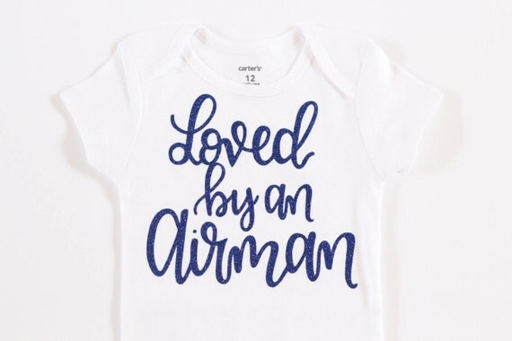 Air force onesie Baby girl clothes Loved by an Airman