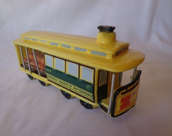 Cable Railway Car,  Ceramic,  Made in Italy, 1973