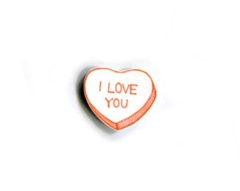 Limited Edition Peach Candy Heart Pin