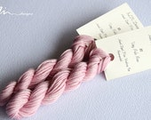 Hand dyed cotton thread / floss (6 strands) very pale rose (121) for cross stitch / embroidery