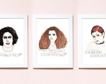 Rocky Horror Picture Show illustrations watercolour portrait