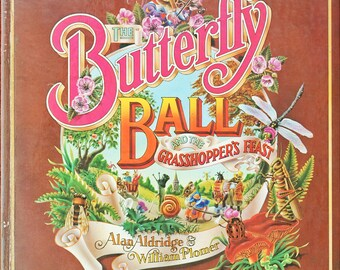 The Butterly Ball And The Grasshopper's Feast - Alan Aldridge - 1st Edition Illustrated Books - Hardback Book - 1973