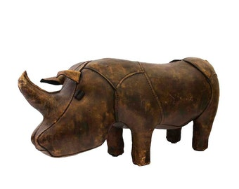 Vintage Abercrombie & Fitch Omersa Rhino Ottoman