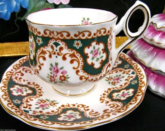 Rosina tea cup and saucer pretty floral pattern teacup