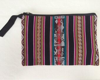 Black Color Block Medium Bag