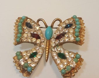 FREE  SHIPPING  Vintage  Designer  Butterfly  Pin