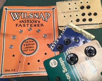 Vintage lot of 50's Snaps Fasteners