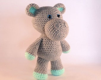 Amigurumi Hippo, Crochet Toy Hippo, Plush Hippopotamus, Stuffed Hippo, Crochet Animal Toy, African Animal, Cute Hippo, Made in Australia