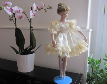 Porcelain doll, 80s, redesigned, dancer
