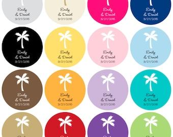 Personalized Round Wedding Favor Label Sticker; Personalized  Round Bridal Shower Label Sticker; Personalized Wedding Sticker Favor Tag