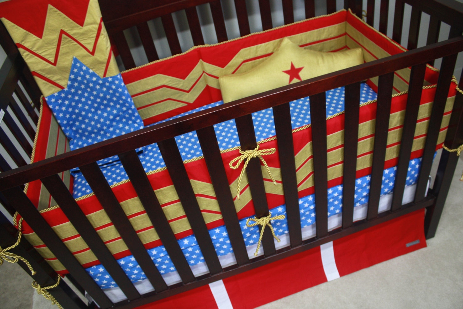 Superhero Baby BeddingWonder WomanCustom Crib Bedding-MTO