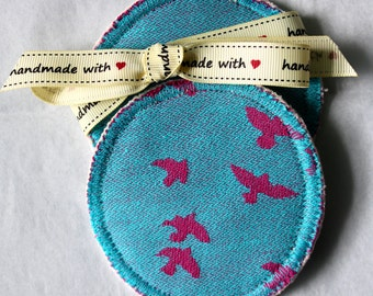 Kokadi Erna in Wonderland eco bamboo breast pads - washable and leakproof