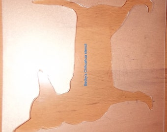 Puppy Bows ~ Chihuahua  dog breed plastic craft stencil