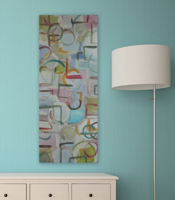 large Original abstract contemporary painting by Marcy Chapman modern wall art acrylic painting