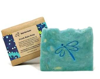 Fresh Rain Soap, Handmade Soap, Fresh Scent Soap, Vegan Soap, Gift under 10