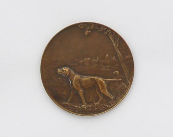 Vintage French Dog Club Medal