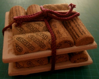 Wine Corks Drinks Coasters (Mixed Brand Corks)