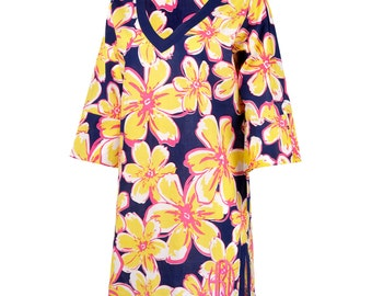 Beach Floral Tunic with Monogram